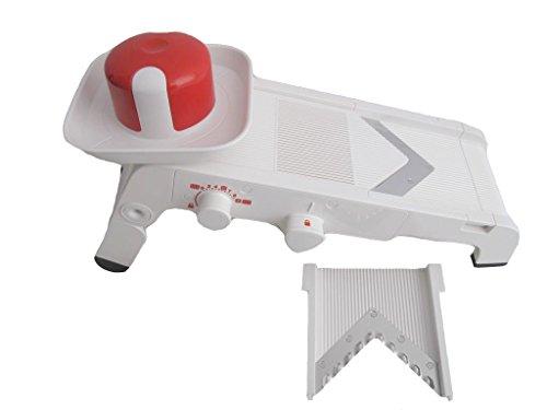 TUPPERWARE Chef Mando-Chef weiß-rot D202 Multihobel Reibe Mandolino P 20671