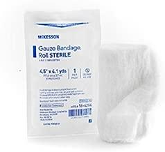 McKesson Cotton Gauze Roll, 6-Ply, 4-1/2 Inch X 4-1/10 Yard, 16-4264 - Case of 100 Rolls