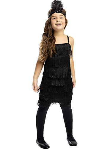 Funidelia   Disfraz de charlestón Negro para niña Talla 10-12 años ▶ Años 20, Cabaret, Gángster, Décadas - Multicolor