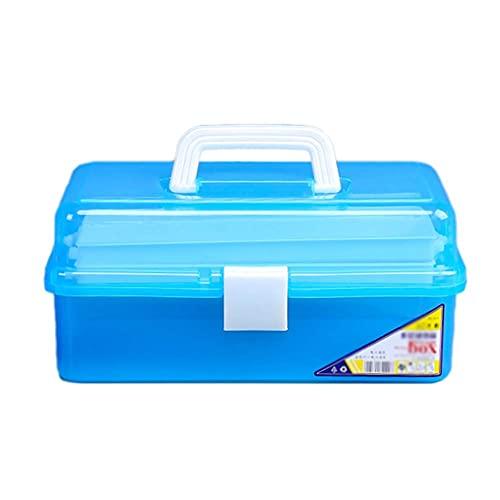 QIXIAOCYB Artistas Caja de herramientas Caja de herramientas Caja de almacenamiento portátil 3 Capas de maquillaje ajustable Medicina Caja de cuadro Pintura de herramientas de herramientas de plástico