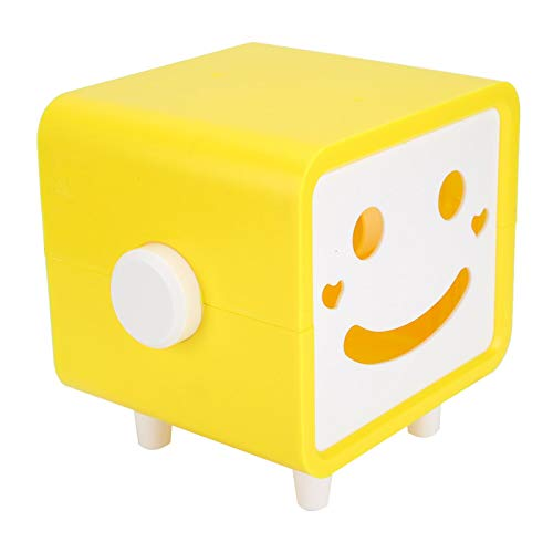 Emoshayoga Caja de Toallas de Papel Resistente al Agua Soporte de Tejido de Alta dureza Resistente a la corrosión para Almacenamiento de Rollo de Papel para Sala de Estar Dormitorio(Yellow)