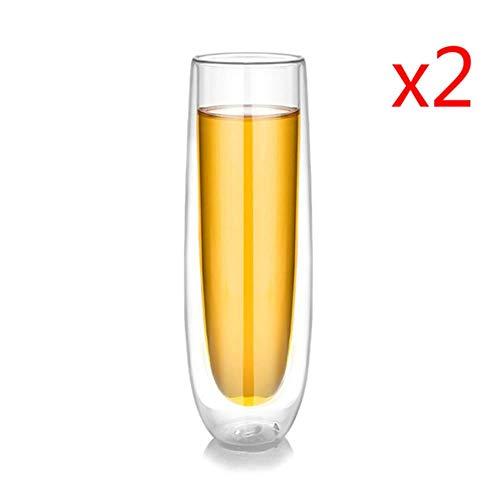 BWM Dubbele Laag Rode Wijnglas Bruiloft Champagne Cocktail Cup