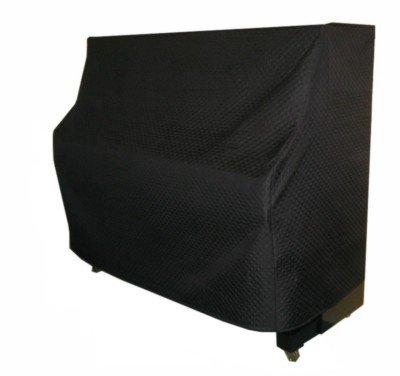 Klavierdecke wattiert schwarz in 2 Größen (104 x 147 x 58 cm)