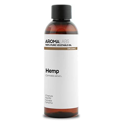 BIO - Olio di Canapa, garantito 100% puro, naturale e spremuto a freddo -Biologico certificato da Ecocert - Aroma Labs