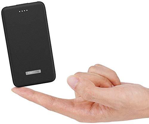 Vancely Powerbank 10000mah,【Latest Cellular Design】 Klein Power Bank Mit 2 Ausgängen (2.4A+2.4A),Externer Akku Ladegerät für Handy kompatibel für iPhone,iPad,Samsung,Huawei und mehr.