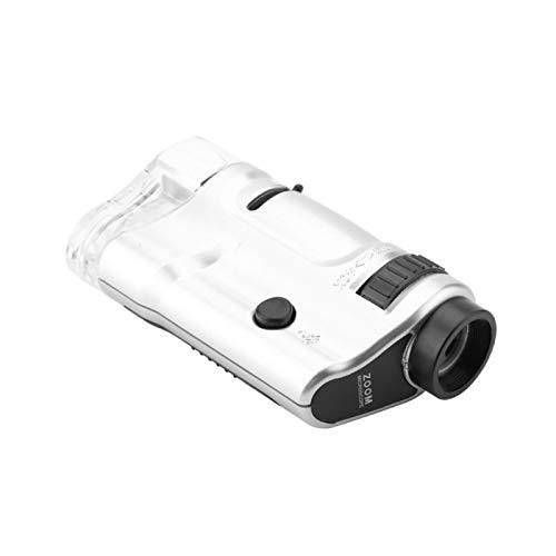 Shipenophy Cámara de inspección HD Microscopio Iluminado Mini Bolsillo Iluminado 20X a 40X Endoscopio de Aumento Digital Microscopio LED de Mano para Estudiantes Adultos con Base