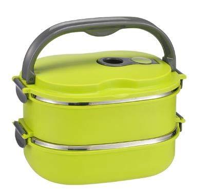 DS Lunchbox - Brotzeitdose - Picknick - 2 TLG. + Deckel Innen aus Edelstahl - Fassungsvermögen: je ca. 600 ml