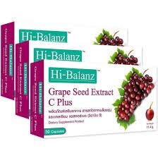 3 pcs.Hi-Balanz Grape Seed Extract C Plus (30 Capsules) Helps nourish the skin Slow down the age to...