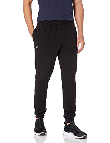 Russell Athletic mens Cotton Shorts & Jogger With Pockets Sweatpants, Cotton Jogger - Black, XX-Large US