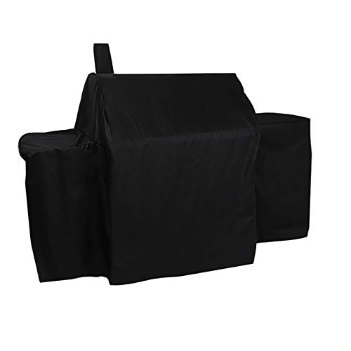 ProHome Direct Heavy Duty Waterproof Grill Cover for Char-Griller 2121,2123 Grills and Char-Griller Smokers with Side Fire Box,Black