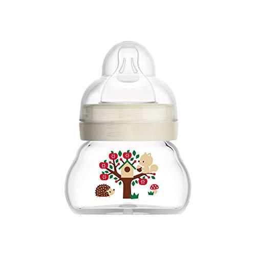 MAM Bottle Feel Good, biberon in vetro extra piccolo con tettarella MAM, resistente al calore, per neonati, unisex, 1 x 90 ml