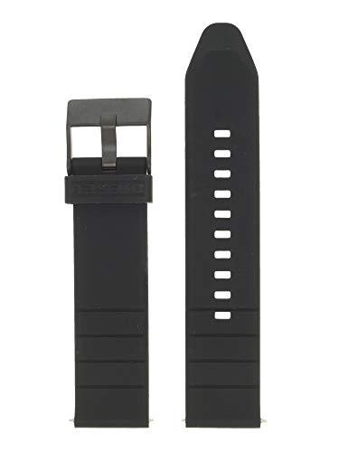 Diesel Correa de reloj intercambiable LB-DZ4507, de caucho, 22 mm, color negro