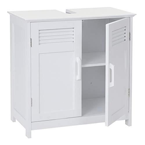 Mendler Waschbeckenunterschrank HWC-A85, Badschrank 60x60x30cm - weiß