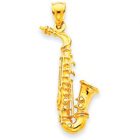 14k Gold Sax Charm