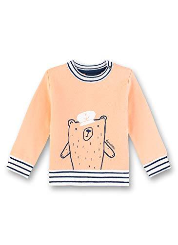 Sanetta Baby-Jungen Sweatshirt, Orange (Orange 2483), 80 (Herstellergröße: 080)