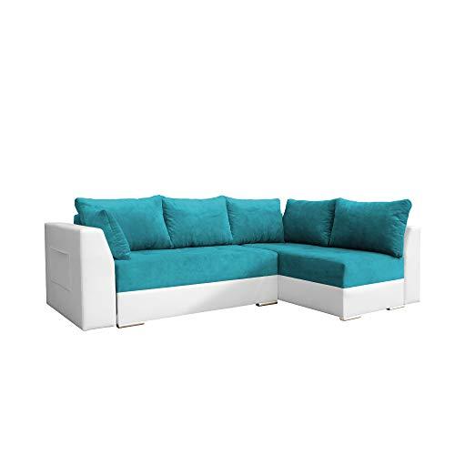 Canapé d'angle Bleu Tissu Design Confort