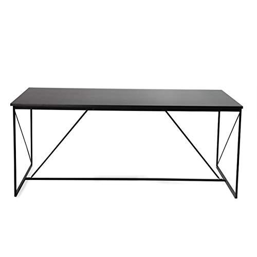 Miliboo - Tavolo da Pranzo Design Grigio e Nero Walt
