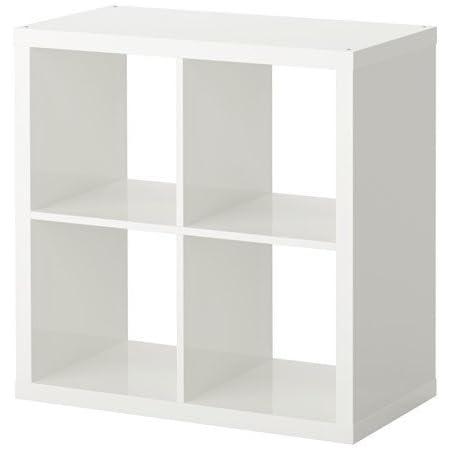 IKEA Kallax - Estantería para cestas o cajas (77 x 77 cm), color blanco