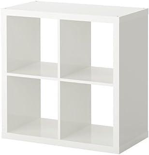 Estantería de IKEA kallax–Librería, perfecto para cestas o boxes-77X 77cm (marrón) White 4-Cases