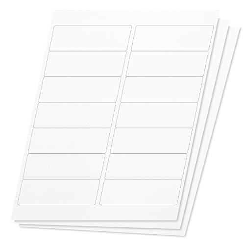 OfficeSmartLabels Rectangular 4 x 1-1/3 Address/Mailing Labels for Laser & Inkjet Printers, 4 x 1.33 Inch, 14 per Sheet, White, 2100 Labels, 150 Sheets