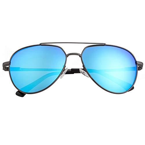 Breed Lyra Herren Sonnenbrille Aviator Polarisiert Edelstahl BSG061, BSG061BL, Schwarz, BSG061BL