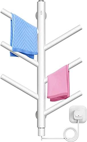 Toallero eléctrico, secador de toallas de temperatura constante inteligente para el hogar,...
