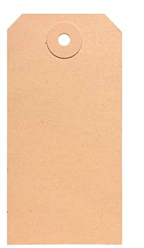 BT-Label 1000 Anhängeschilder 50 x 100 mm mit Loch (verstärkte Kartonöse), als Warenanhänger, Kartonanhänger, Anhängezettel, Papier-Anhänger, Tags, Karton-Etiketten