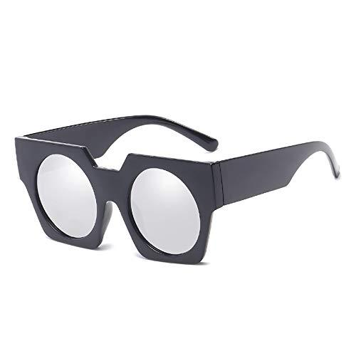APCHY Gafas De Sol Cuadradas Extragrandes para Hombre Mujer Gafas De Sol Cuadradas De Moda Protección UV400 Gafas De Sol Vintage Extragrandes,C4