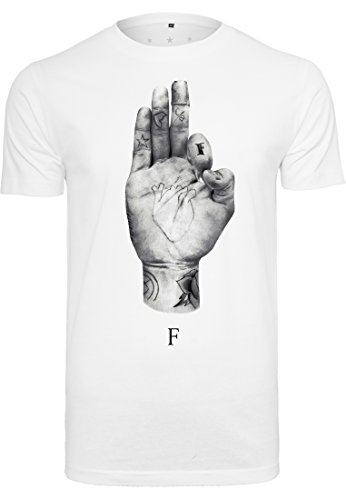 Famous Stars and Straps Herren T-Shirt FMS Sign Tee - weißes Streetwear-Herrenshirt - Farbe Weiß, Größe L