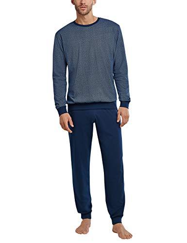 Schiesser Herren Schlafanzug lang Pyjamaset, Blau, XXX-Large