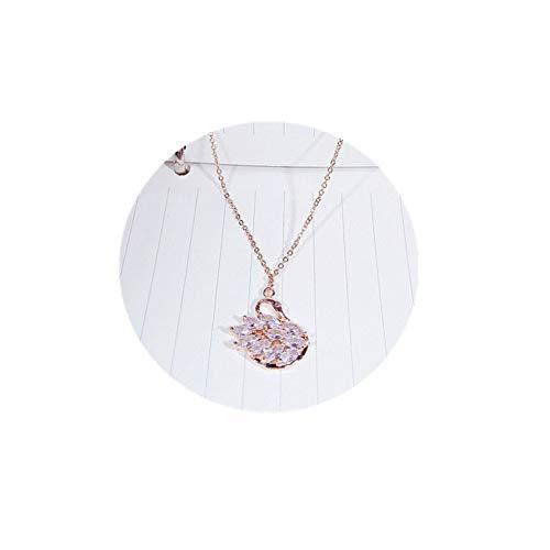 N/A Collar Collar De Anillo Doble con Letras Romanas Vintage, Cadena De Clavícula Circular para Mujer, Joyería De Moda Atmosféricano Alérgico