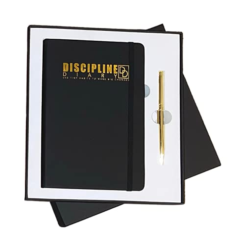 Discipline Diary Undated Yearly Planner Journal Habit Tracker in Box with...