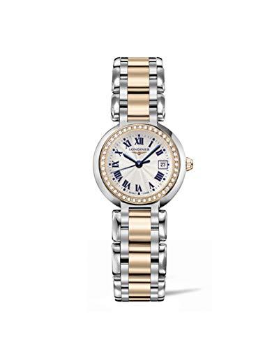 Longines PrimaLuna L8.110.5.79.6 Reloj de mujer de dos tonos de oro rosa de 18 quilates y diamantes de acero
