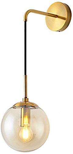 Plafondlamp van glas lampenkap Cognac kleur van de lamp Strenge IJzer kwaliteitscontrolesysteem plafondlamp incl.