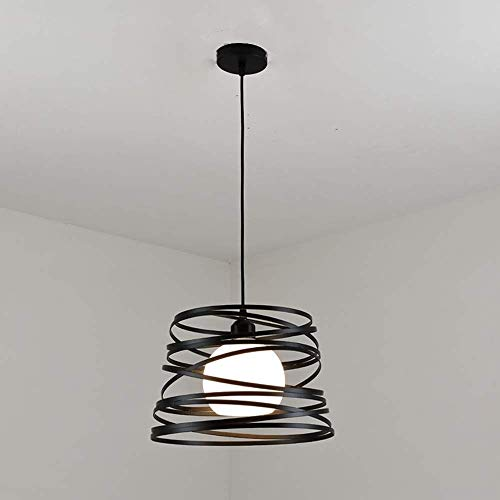 GaLon Moderne hanglamp E27 1 vlammig Deisgn keuken lamp hal werkkamer lamp eetkamerlamp plafondverlichting wit ijzeren frame en glazen lampenkap diameter 32 cm ophanging 100 cm