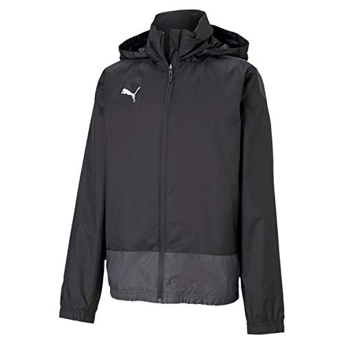 PUMA Jungen teamGOAL 23 Training Jr Regenjacke, Black/Asphalt, 164