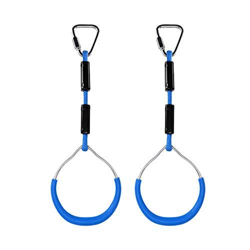 BESPORTBLE 2 Stücke Schaukel Ringe Kinder Gymnastik Ringe Verschleißfest für Klettergerüste Und Garten Schaukeln Outdoor Hinterhof Spielen (Blau)