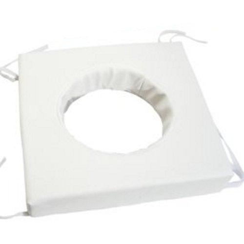 Toilettenstuhlkissen Kunstleder weiß 42x42x6cm, Toilettenhilfen