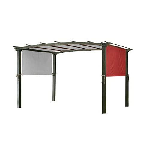 Feixing Pergola - Cubierta para toldo de repuesto con correa de fijación universal impermeable para estructura de sombra de hogar al aire libre