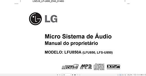 Manual Em Português do Micro System LG Lf-u850a (Portuguese Edition)