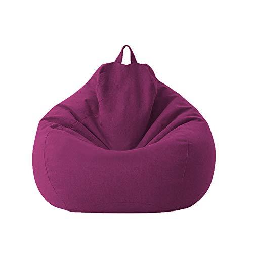 Geagodelia Pokrowiec na sofę Pigro pokrowiec na sofę pokrowiec na sofę pokrowiec na sofę pokrowiec Bean Bag Cover (bez wypełnienia) (100 x 120 cm, fioletowy)