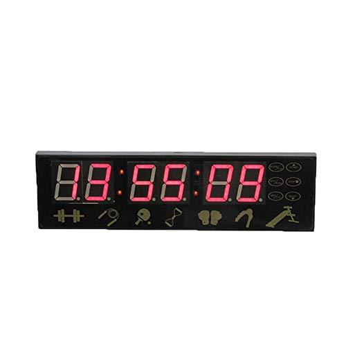 Marcadores y temporizadores Operado por control remoto inalámbrico Gimnasio Temporizador para el hogar Gimnasio de 1,5 'Reloj de intervalo de ajuste de mayor carácter de carácter para el gimnasio de c