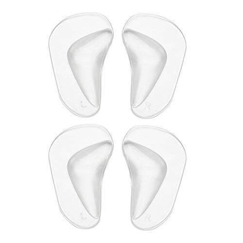 2 Paare Silikon Gel Flat Foot Arch Support Einlegesohlen, Plattfuß Korrektur Schuh Fuss Einlagen Korrektur Pads Bogen Pads für Plattfuß Professionelle Plattfuß Corrector/Mittelfuß Pads (2)