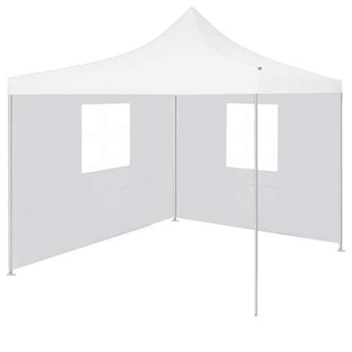 BBalm Carpa profesional plegable con 2 paredes laterales, 3 x 3 m, acero, color blanco