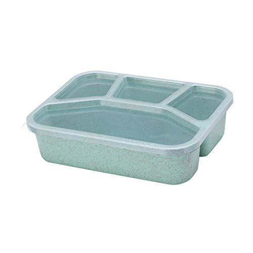 Weizenstroh Bento-Box Brotdose, Ökologische Gesunde Kinderfutter Vorratsbehälter, Küche Mikrowelle Zur Verfügung, Weizenstroh Vier Fach Von R-WEICHONG
