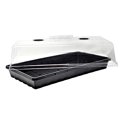 Bootstrap Farmer 1020 Trays w/Humidity Dome Extra Strength, 5 Pack, for Seed Starting Plant Propagation Germination Tray No Holes Fodder System Starter