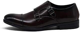 YOWAX Chaussures pour Hommes Boutons en métal en Cuir Chaussures Tout-Aller pour Affaires Robe Formelle Discothèque Rock S...
