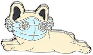 Vita primo animale smalto Pin personalizzato gatto cane maiale Corgi Husky bulldog francese spille borsa bavero spilla fum...