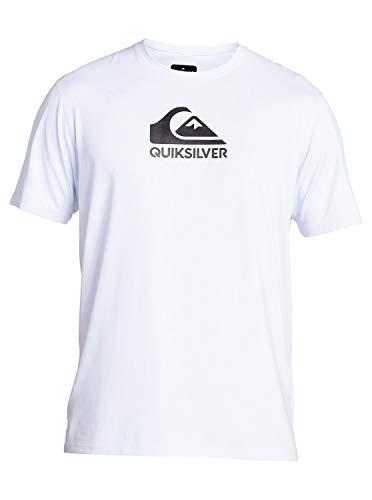 Quiksilver Men's Solid Streak SS Short Sleeve Rashguard SURF Shirt, White, X-Large