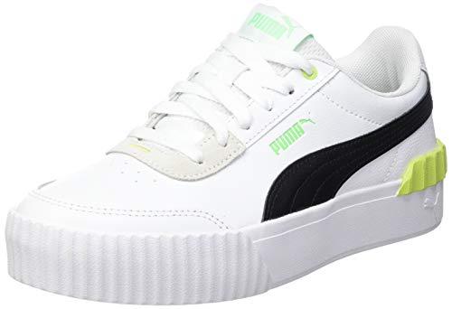 PUMA Carina Lift, Sneaker Donna, Black White/Sharp Green, 39 EU